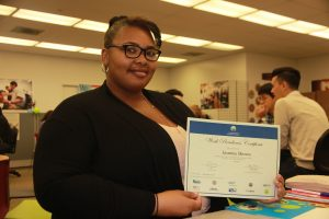 Jasmine with Work Readiness Certificate